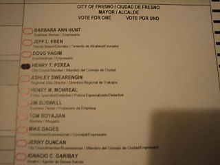 Fresno mayor ballot