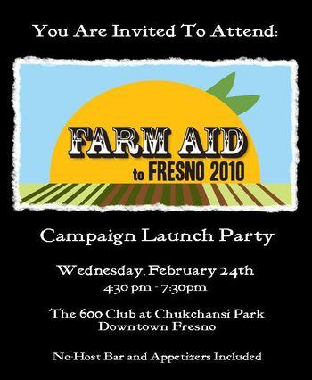Farm aid to fresno