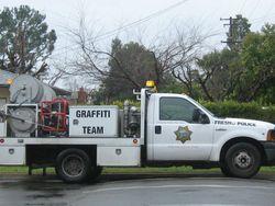 Fresno graffiti truck