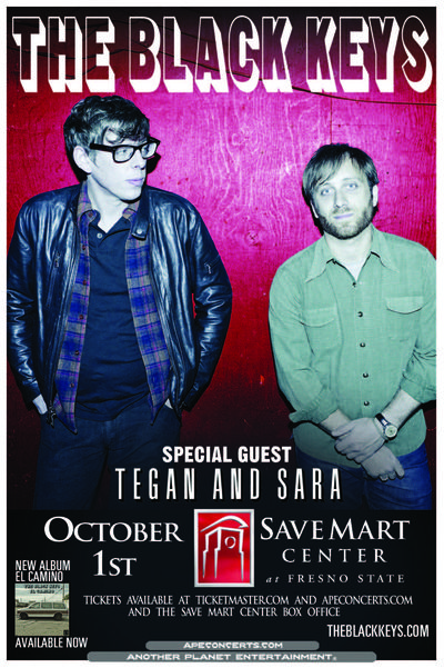 THE BLACK KEYS-Fresno 4x6 card 6-1-12
